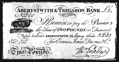 A local provincial banknote from Wales